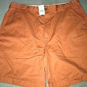 j crew orange shorts size 38